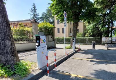 colonnine ricarica auto elettriche piazza Miodini