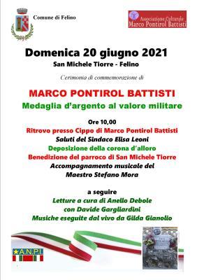 locandina commemorazione pontirol battisti 2021