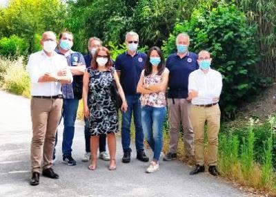 Delegazione con Assessora Priolo sul Rio Bertone