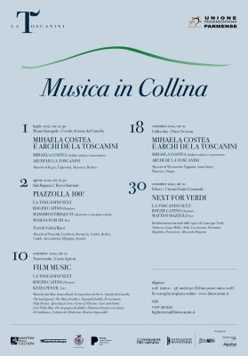 locandina programma Musica in collina