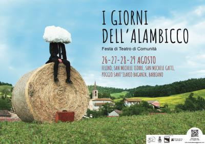 copertina del volantino del Festival I giorni dell'Alambicco
