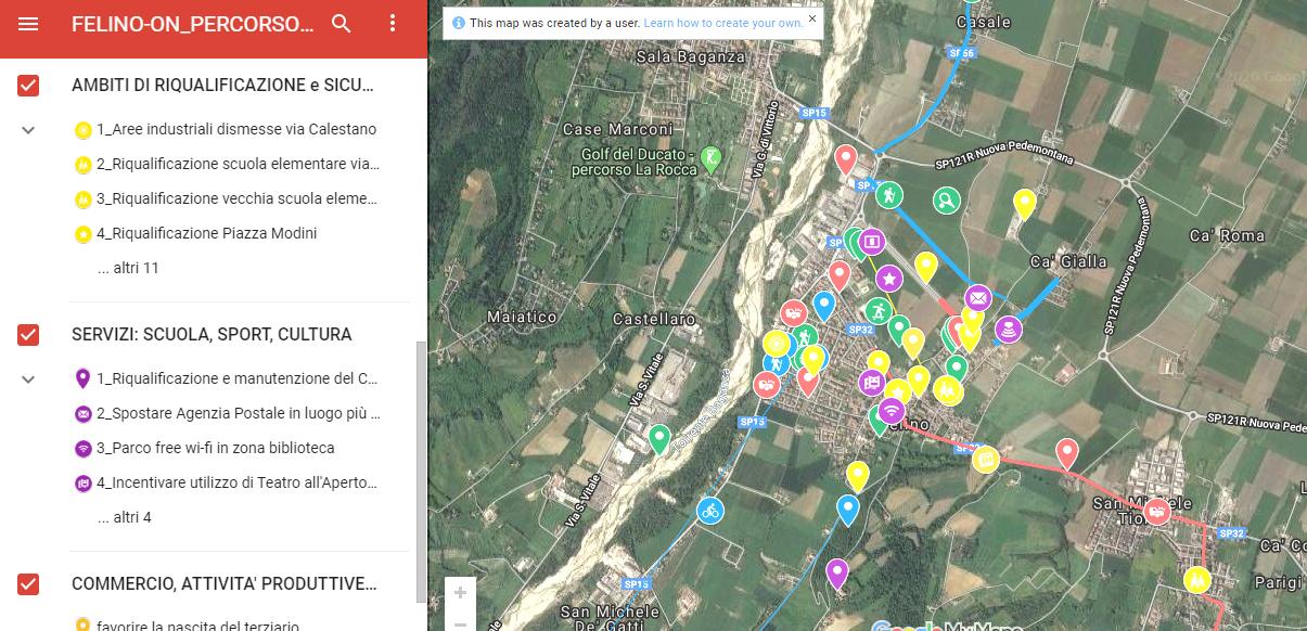 FELINO-ON: completate le MAPPE ONLINE con le proposte dei cittadini